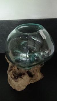 Glas auf Wurzelstock (Gamal Wood) S / 38 (18)