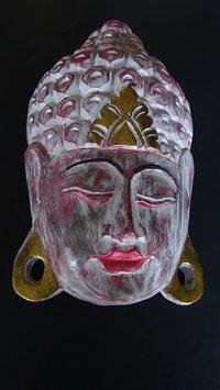 Buddha - Maske Gold / Rot