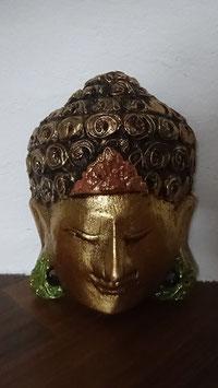 Buddha - Maske Gold (klein 1)