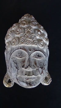 Buddha - Maske Gold/Weiss (2)