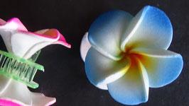Haarklemme klein Frangipani blau