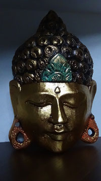 Buddha - Maske Gold (1)