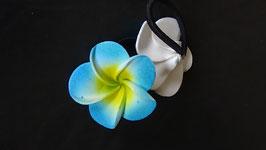 Haargummi Frangipani blau/gelb (1 Stück)