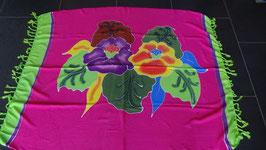 Sarong (29) Rosa/Grün mit Blumen
