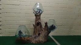 Wurzelstock mit 3 Glas (110) XXXL