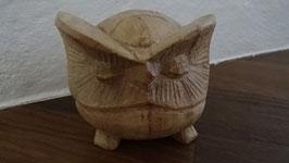 Eule klein nature (aus Suar Holz geschnitzt)