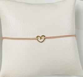 Armband HERZBOGEN      585 Gelbgold