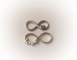 Armband INFINITY  HEART  |   925 Sterling Silber