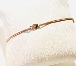 Armband Tiny-Kleeblatt crystal | Sterling Silber