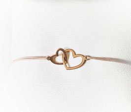 Armband TWO HEARTS  | Sterling Silber