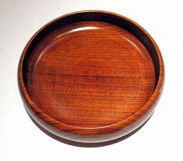 (YOKOHAMA WOOD)丸いお皿 拭漆