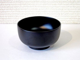 塗立の黒椀