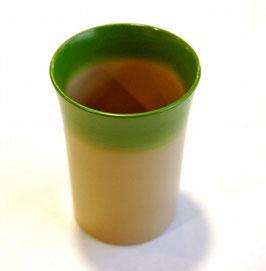 抹茶ぼかしの塗立カップ