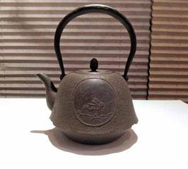 【予約】丸富士型跳兎紋鉄瓶 0.7L