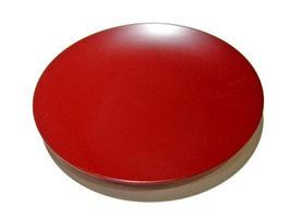 塗立の6寸皿の赤