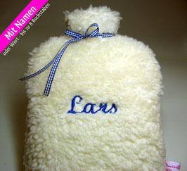 Öko Kinder-Wärmflasche (0.8 Liter) mit Deinem Wunsch - Namen!