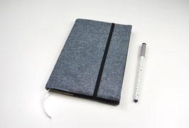 Kalender DIN A5: Jeansblau mit Glitzer
