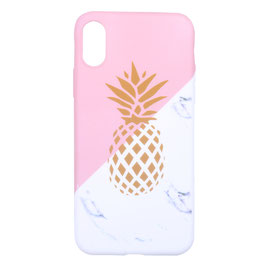 iPhone 6/7/8 plus pink marble pineapple