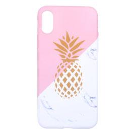 iPhone 6/7/8 plus pink marble pineapple
