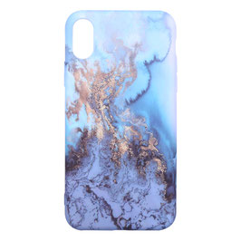 iPhone X/XS marble blauw