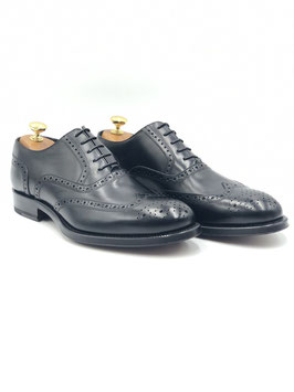 "Francesina Coda di Rondine ""Duilio"" (Oxford Full Brogue) Nero (ws1004n)"