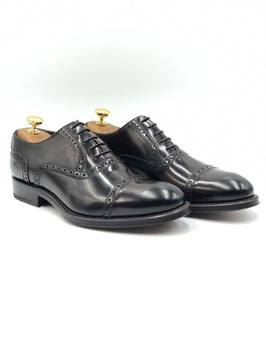 Francesina  con punta Semidecorata (Oxford Quarter-Brogue) T.moro (ws002m)