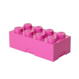Lego brooddoos roze met naam