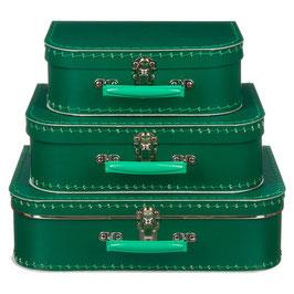 Koffertje groen met lichtgroen handvat
