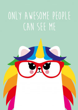 Ansichtkaart: Only awesome people can see me