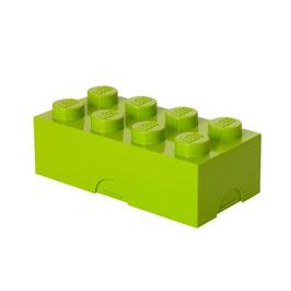 Lego brooddoos limegroen met naam