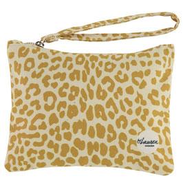 "Clutch ""leopard only mustard"""