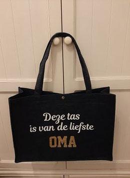 Vilten tas: Deze tas is van de liefste OMA