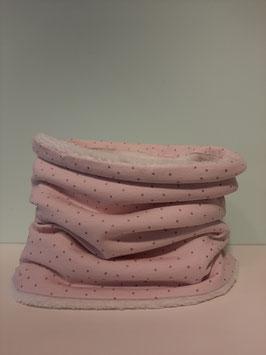 Wintercolsjaal roze glitter midi