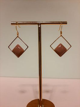 Oorbellen hangers nude- gold