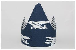 Kroon vliegtuigen donkerblauw
