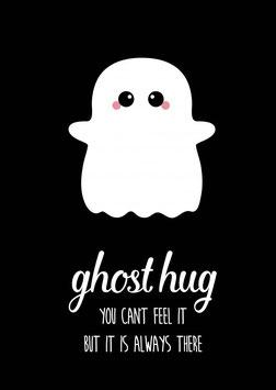 Ansichtkaart: ghost hug