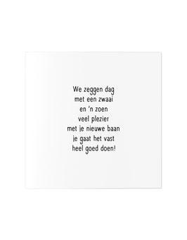 "Wenskaart ""Nieuwe baan"""