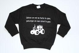 Sweater tractor zwart