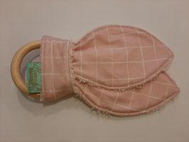Bijtring vierkant roze