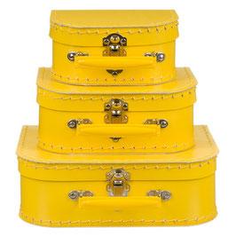 Koffertje geel met geel handvat