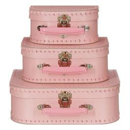 Koffertje roze met roze handvat