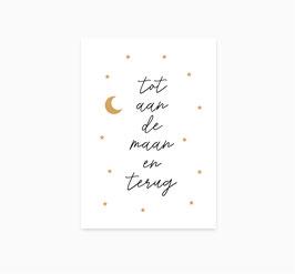 Ansichtkaart: Tot aan de maan en terug