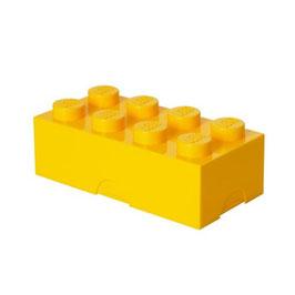 Lego brooddoos geel met naam