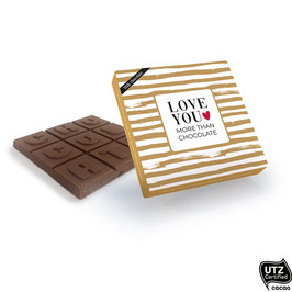 Melkchocolade Love you more than chocolate
