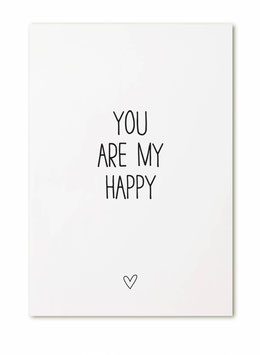 """Ansichtkaart """"You are my happy"""""""