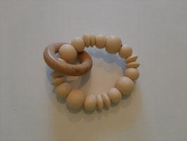 Bijtring uni met houten ring