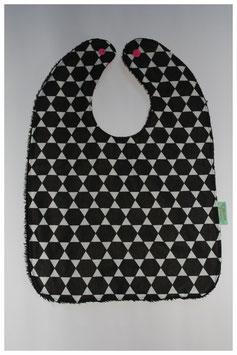 Slab zeshoek zwart/ wit
