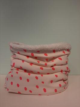Wintercolsjaal spots roze midi