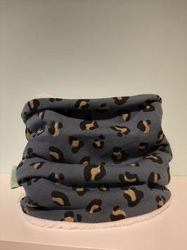 Wintercolsjaal luipaard glitter midi