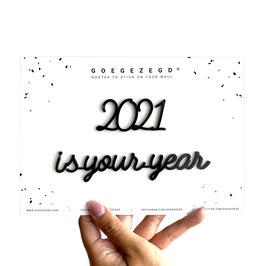 Muursticker 2021 is your year